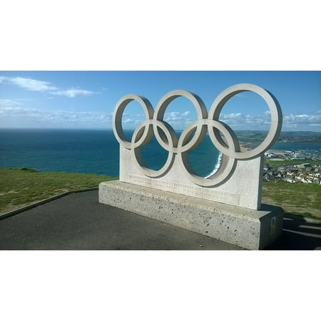 LAMINATED POSTER Sea Sky Weymouth Olympic Rings Portland Poster Print 24 x 36](Olympic Rings Decorations)