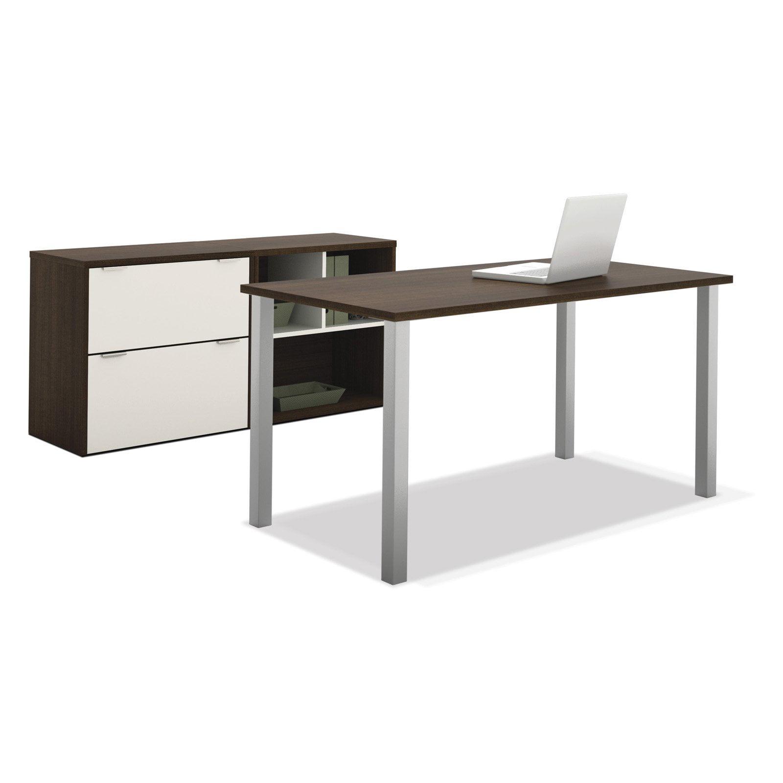 Bestar 50854-60 Contempo Executive Desk Kit Tuxedo   Sandstone by Bestar