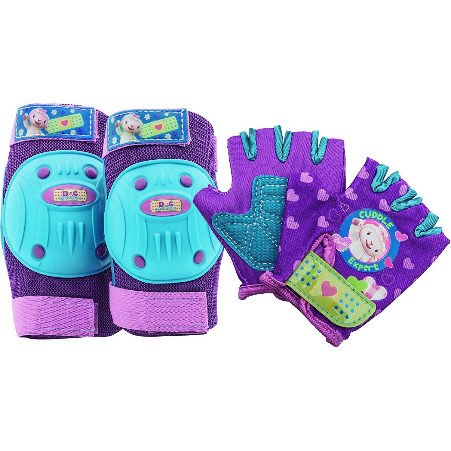 Bell Doc McStuffins Elbow Pads/Knee Pads and Gloves