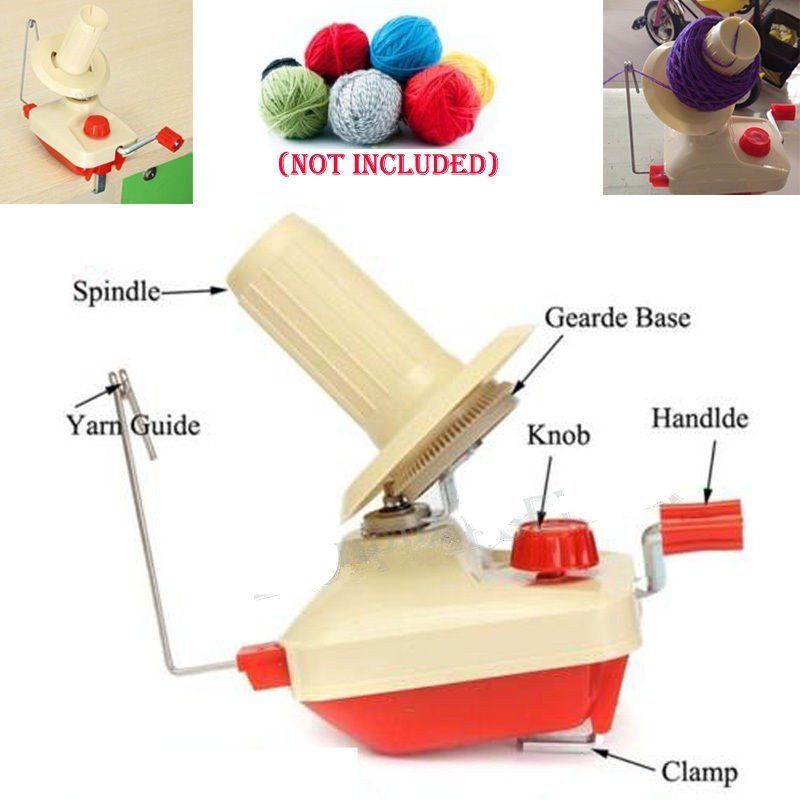 Portable Hand-Operated Yarn Winder Wool String Thread Skein Machine Tool