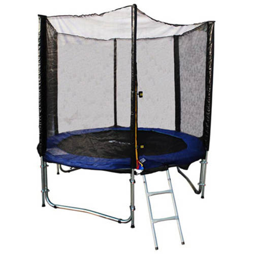 ExacMe 8' Trampoline with Enclosure Net All-In-1 Combo Set