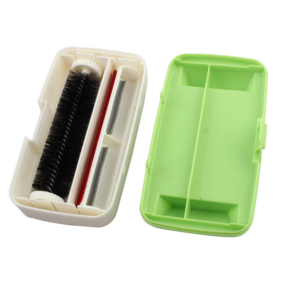 Household Bed Clothes Plastic Dual purpose Dust Removing Collector Brush Green - image 1 of 4