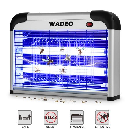 WADEO Bug Zapper Indoor with Noiseless and Smokeless Mosquito Killer Attracts and Kills Mosquitoes, Flies, Moths and Other Bug