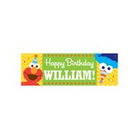 Personalized Sesame Street Elmo and Cookie Monster Kids Birthday Banner