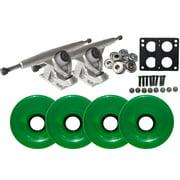Randal 180 LONGBOARD TRUCKS Package 70mm T.GREEN Wheels Abec 7