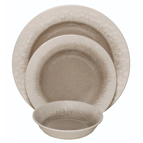 Melange Crackle Melamine 12 Piece Dinnerware Set Service For 4 Walmart Com Walmart Com