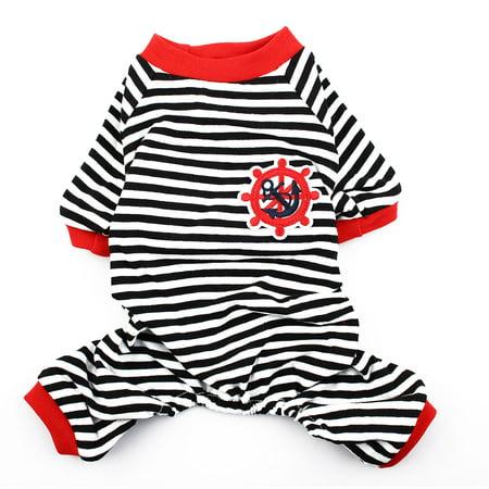 Dog Pajamas Clothes (Pet Dog Embroidery Pattern Sleepwear Shirt Pajamas Apparel Size S )