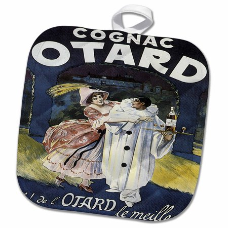 Courvoisier Vs Cognac - 3dRose Vintage Otard Cognac French Advertising Poster - Pot Holder, 8 by 8-inch