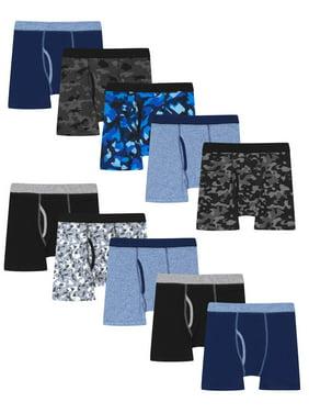 Hanes Boys Underwear, 10 Pack Tagless ComfortFlex Waistband Boxer Brief Sizes 6/8 - 18/20
