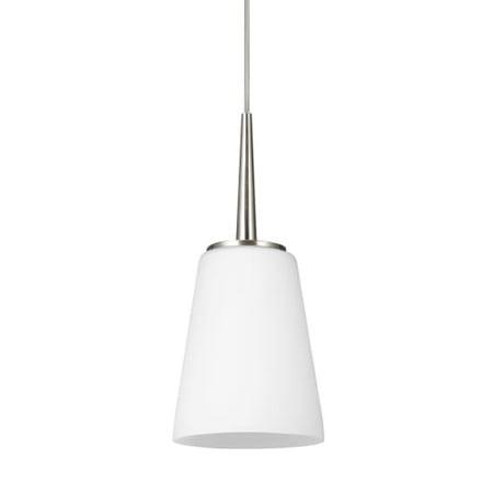 Opal Cased Globe Pendant - Sea Gull Lighting 6140401EN Driscoll Single Light 5-1/4