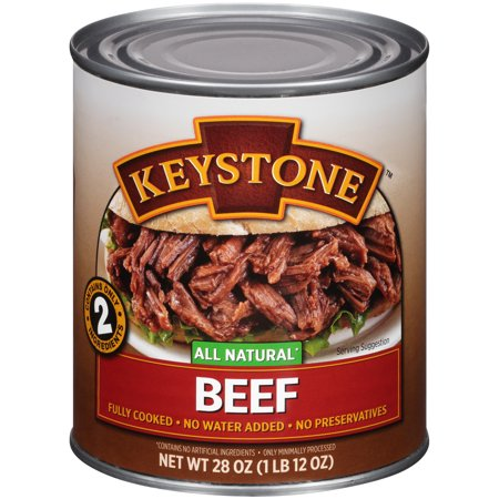 (2 Pack) Keystone All Natural Beef, 28 Oz