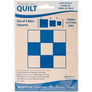 Tattered Lace Quilt Die Cut-Larger Square Set Of 3