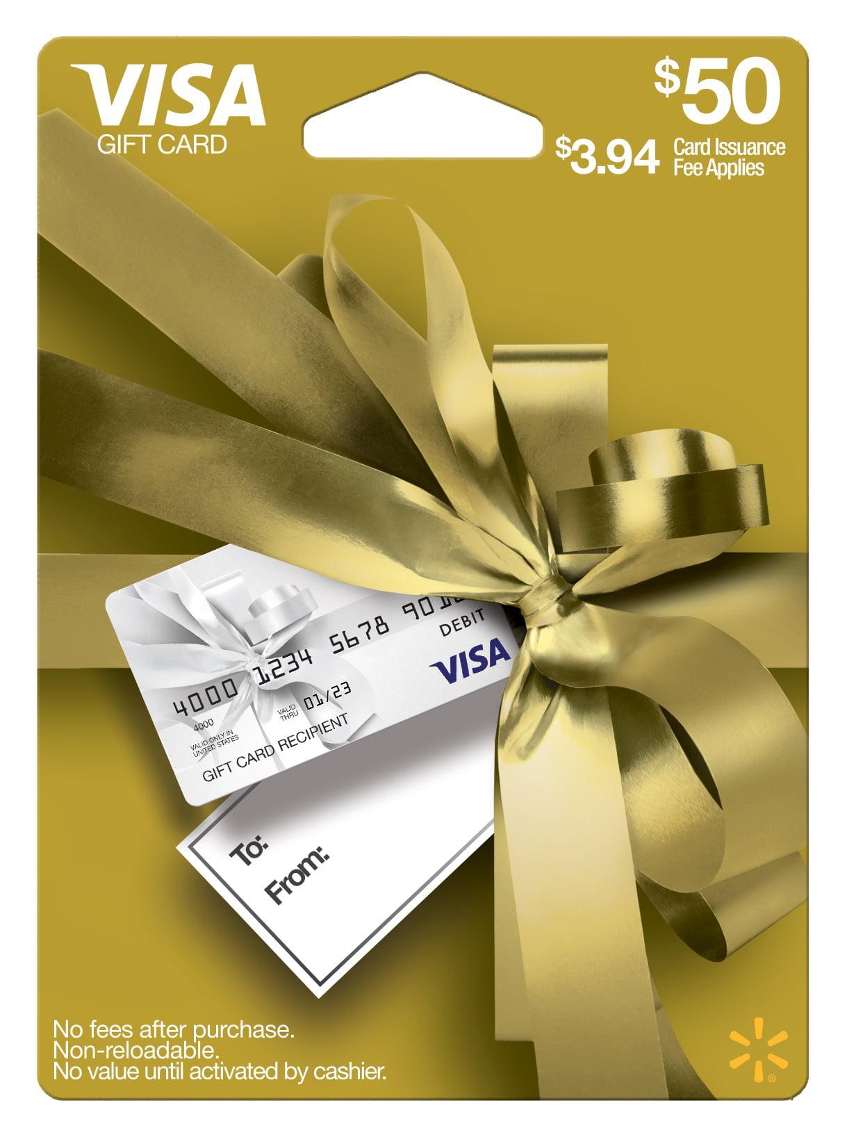 Visa Giftcard Wmt Ed Gc $9 Gold Gdb