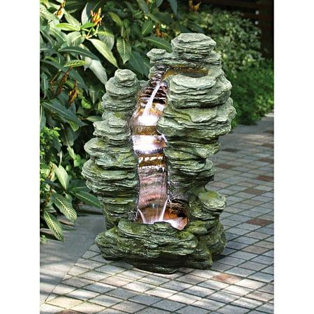 Mineral Point Cascading Garden Fountain
