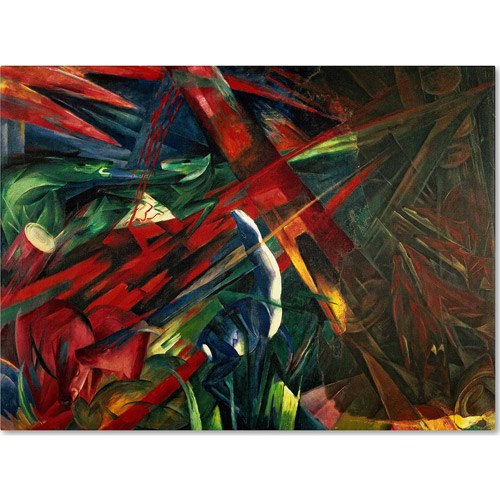 "Trademark Fine Art ""Fate of the Animals, 1913"" Canvas Art by Franz Marc"