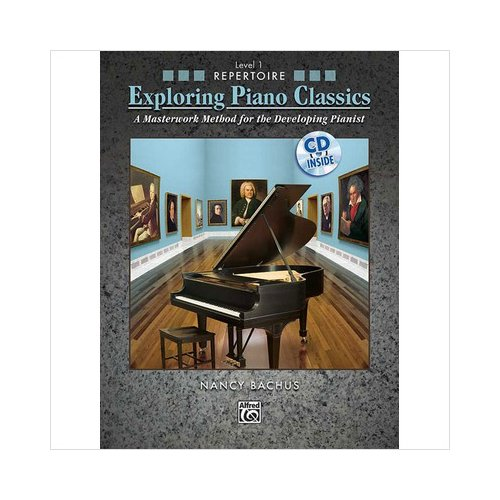 Alfred 00-31355 Exploring Piano Classics Repertoire- Level 1 - Music Book