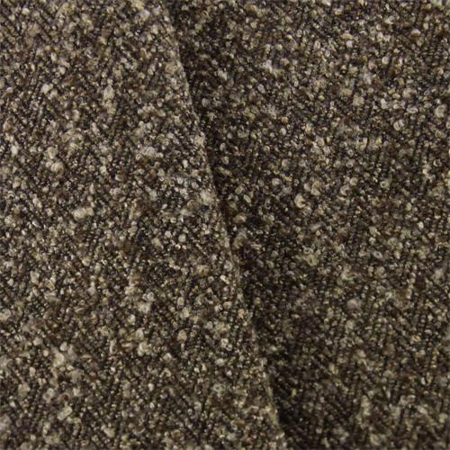 Dark Brown Herringbone Boucle Upholstery Fabric, Fabric By the Yard
