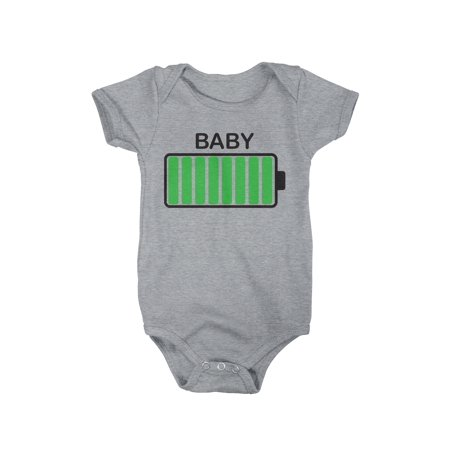4fa768da5 Crazy Dog Funny T-Shirts - Baby Battery Fully Charged Funny Newborn ...