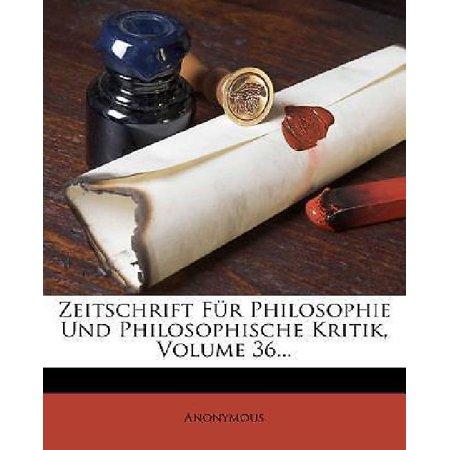 Zeitschrift F R Philosophie Und Philosophische Kritik, Volume 36... - image 1 of 1