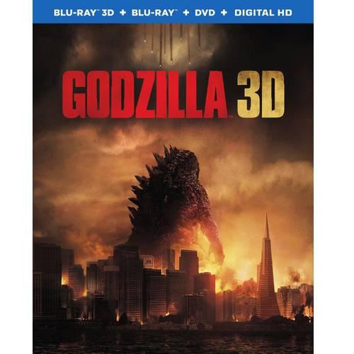 Godzilla (2014) (3D Blu-ray + Blu-ray + DVD + Digital HD) (With Ultraviolet) (With INSTAWATCH) (Widescreen)