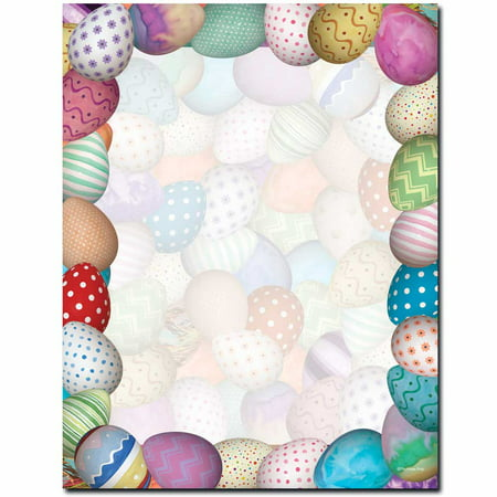Painted Easter Eggs Letterhead Laser & Inkjet Printer Paper](Easter Paper)