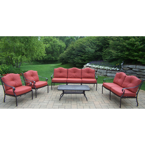Oakland Living Berkley 5 Piece Sofa Set with Cushions by Oakland Living Corporation