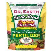 Dr. Earth Organic & Natural Exotic Blend Palm, Tropical & Hibiscus Fertilizer 4-4-6, 4 lb.