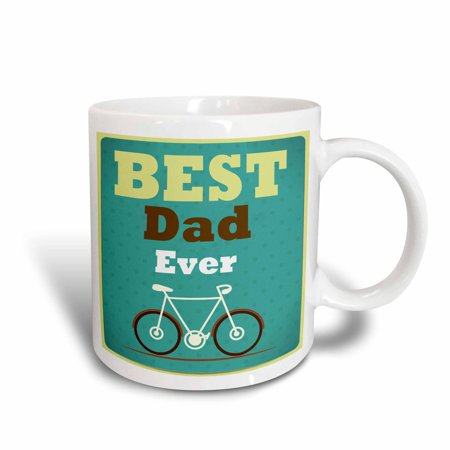 3dRose Best Dad Ever With A Bicycle Graphic - Ceramic Mug,