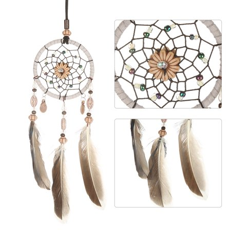 Rdeghly Hanging dreamcatcher, Car Pendant dreamcatcher,1 PCS Creative Handmade Dream Catcher with Feather Shells Car Pendant Hanging Decoration - image 4 of 7