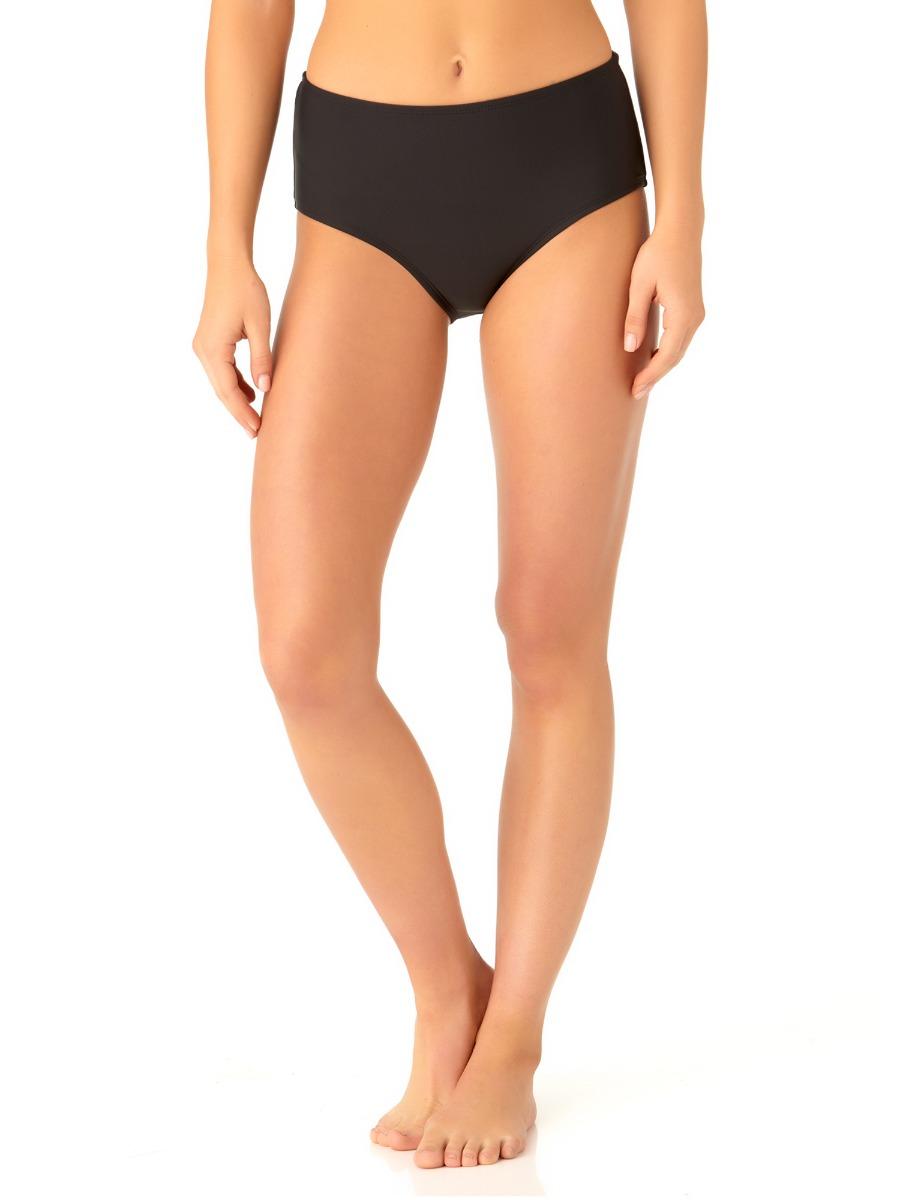Catalina Women's Black High Waist Swim Bottom