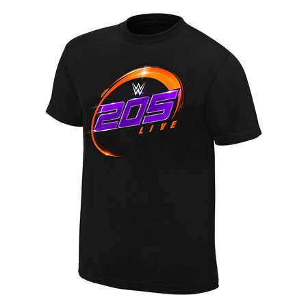 Official Wwe Authentic 205 Live Logo T Shirt Black