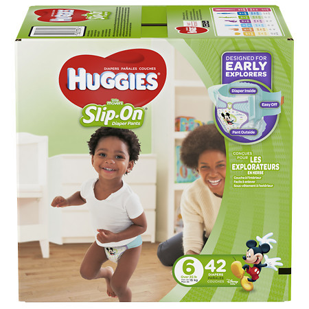 Baby Diaper Huggies Little Movers Pull On Size 6 Disposab...