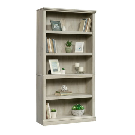 Sauder Select 5-Shelf Bookcase, Chalked Chestnut Finish Dining Room Set Bookcase