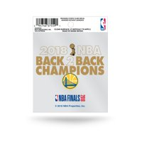 """Golden State Warriors Official NBA 3.5"""" x 4"""" 2018 National Champions Decal 3.5x4 Static Cling by Rico 387417"""