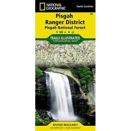 Pisgah ranger district, pisgah national forest, north carolina, usa outdoor recreation map: