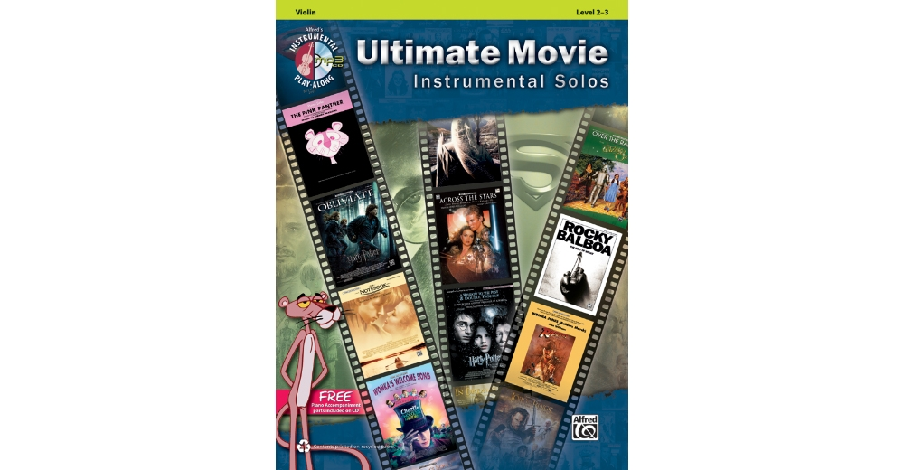 Alfred Ultimate Movie Instrumental Solos for Strings-Violin-Book & CD by Alfred