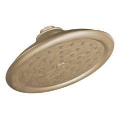 """S6310BB Brushed bronze one-function 7"""" diameter spray head rainshower showerhead Brushed Bronze"""