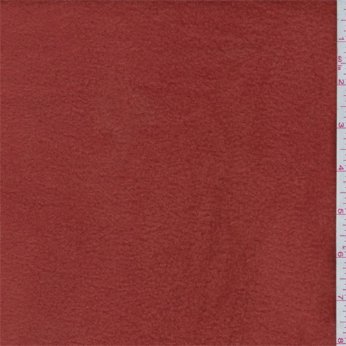 Red Orange Polyester Fleece, Fabric By the Yard