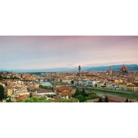 Halloween City Santa Maria (Buildings in a city Ponte Vecchio Arno River Duomo Santa Maria Del Fiore Florence Tuscany Italy Poster)