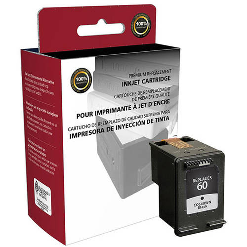 CIG Remanufactured Black Ink Cartridge (Alternative for HP CC640WN 60) (200 Yield)