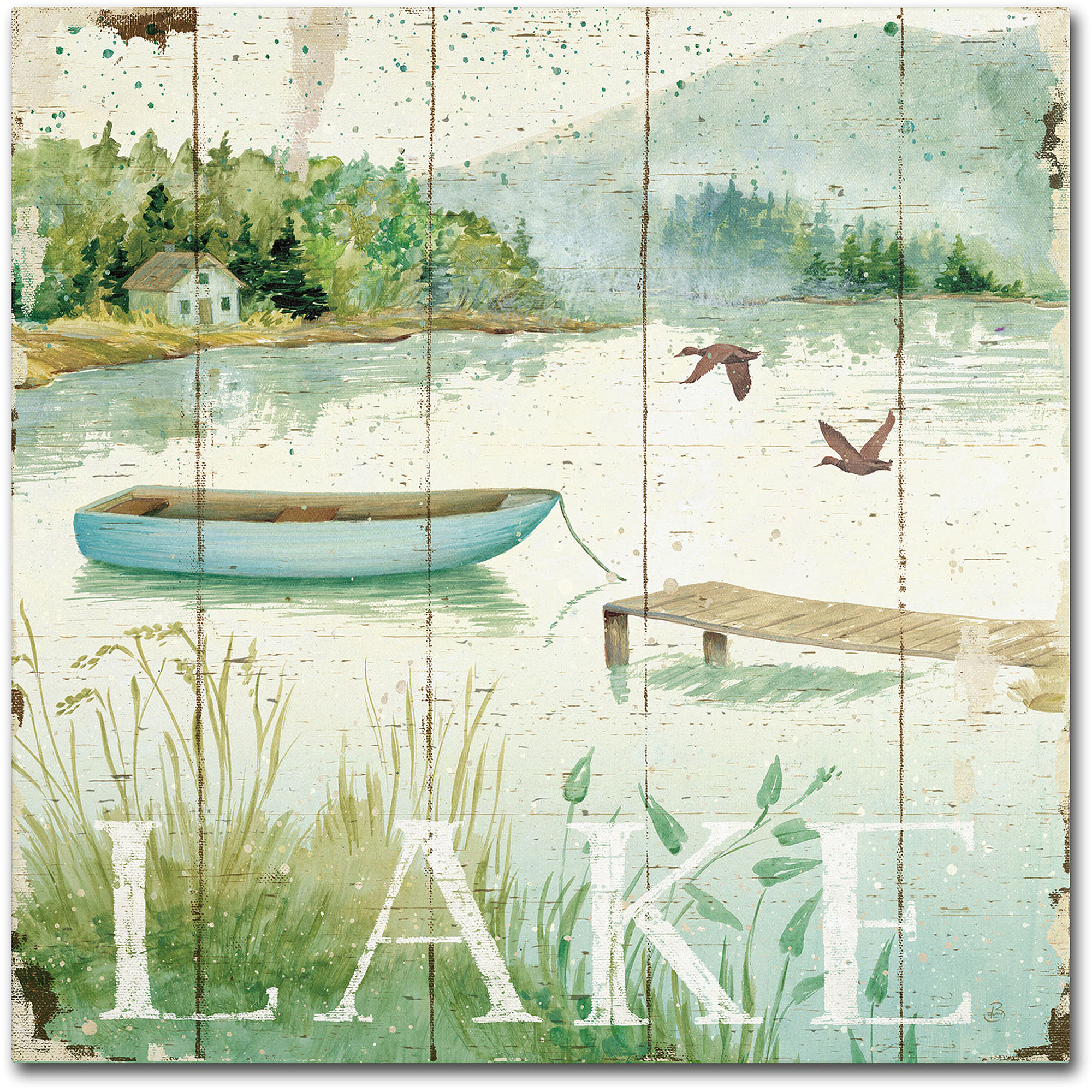 "Trademark Fine Art ""Lakeside II"" Canvas Art by Daphne Brissonnet"