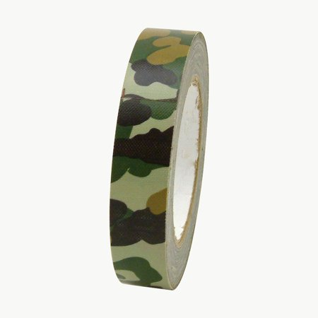 JVCC CAM-01 Premium Grade Camouflage Duct Tape: 1 in. x 75 ft. (Woodland Forest Green) (Dark Green Duct Tape)