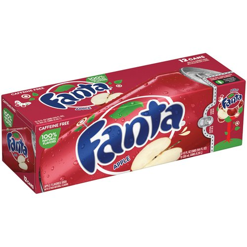 Fanta Apple Soda, 12 fl oz, 12 pack