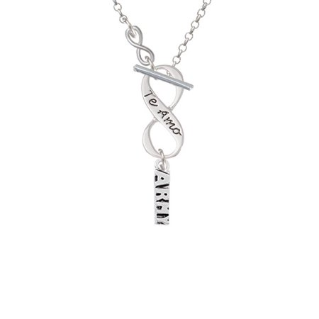 Army   To Infinity Te Amo Toggle Necklace