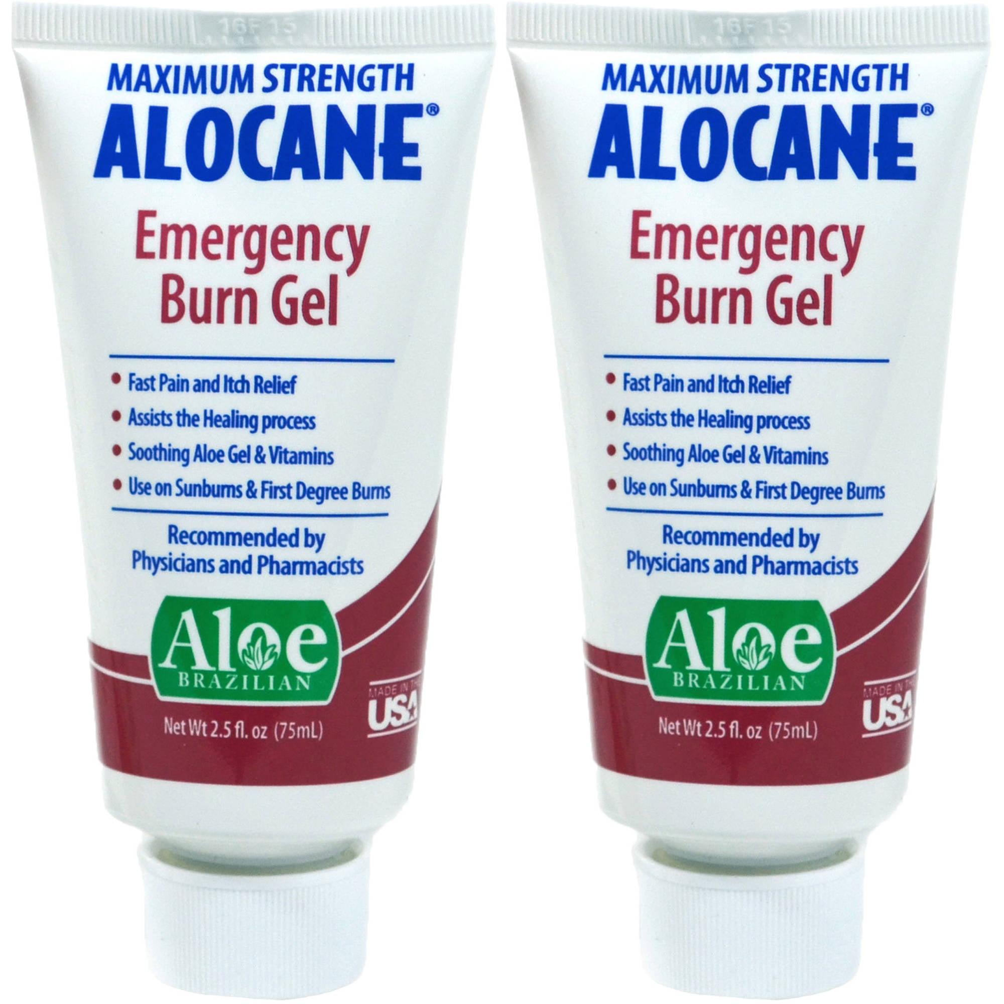 Alocane Maximum Strength Emergency Burn Gel, 2.5 fl oz, 2 count