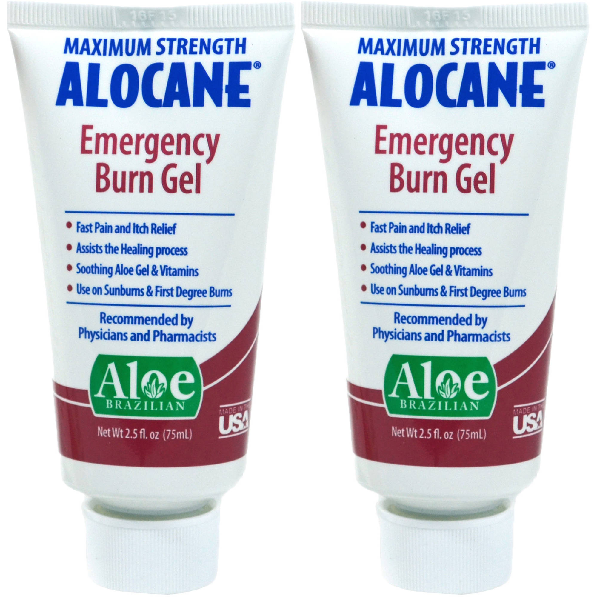 Alocane Maximum Strength Emergency Burn Gel, 2.5 fl oz, 2 count