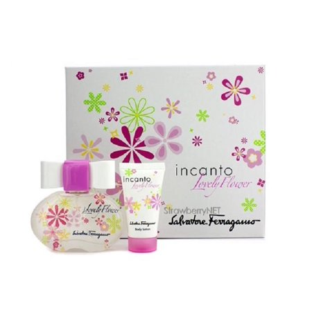 Incanto Set (INCANTO LOVELY FLOWER Salvatore Ferragamo 1.7 EDT + 1.0 Lotion Women Perfume)