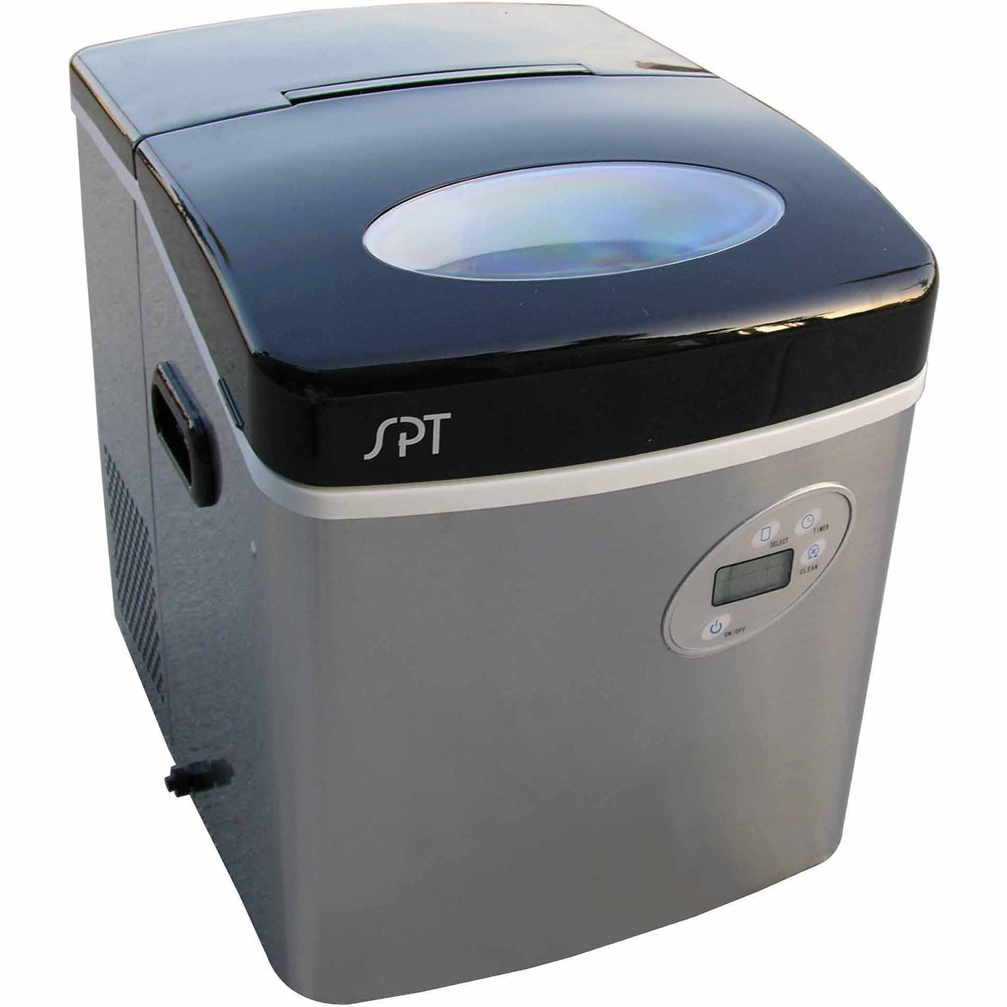 Sunpentown Portable Ice Maker with Digital Controls, Stainless Steel