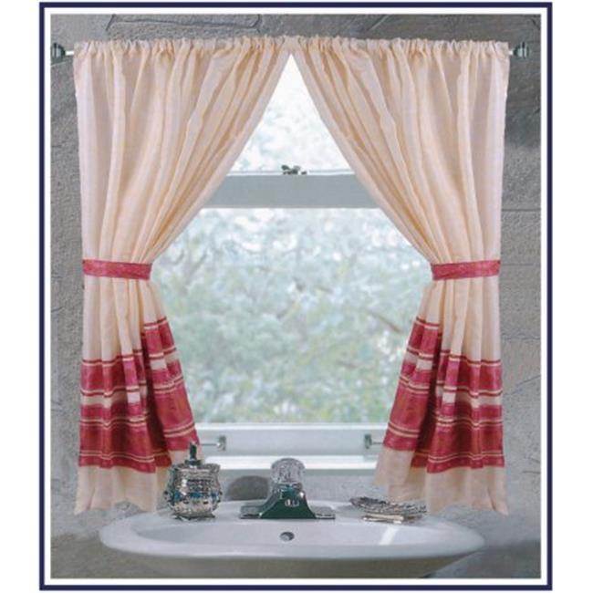 FWC-FL-20 Fleur Fabric Window Curtain in Burgundy - image 1 of 1