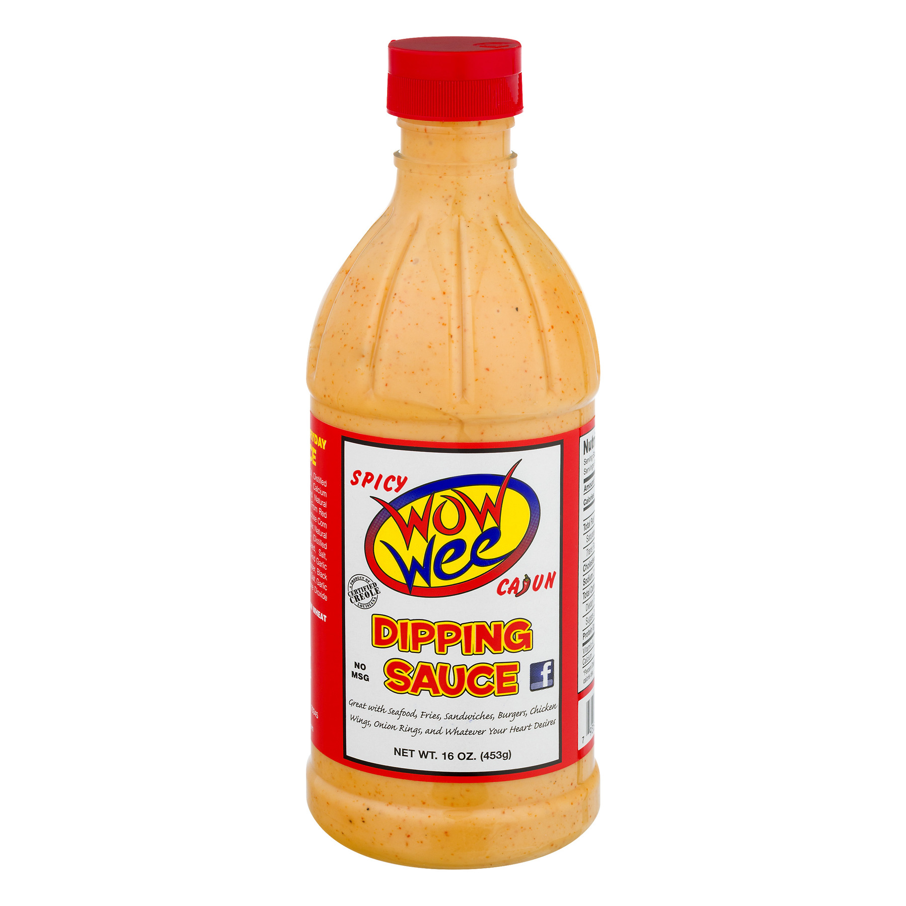 (2 Pack) Wow  Cajun Dipping Sauce Spicy, 16.0 OZ